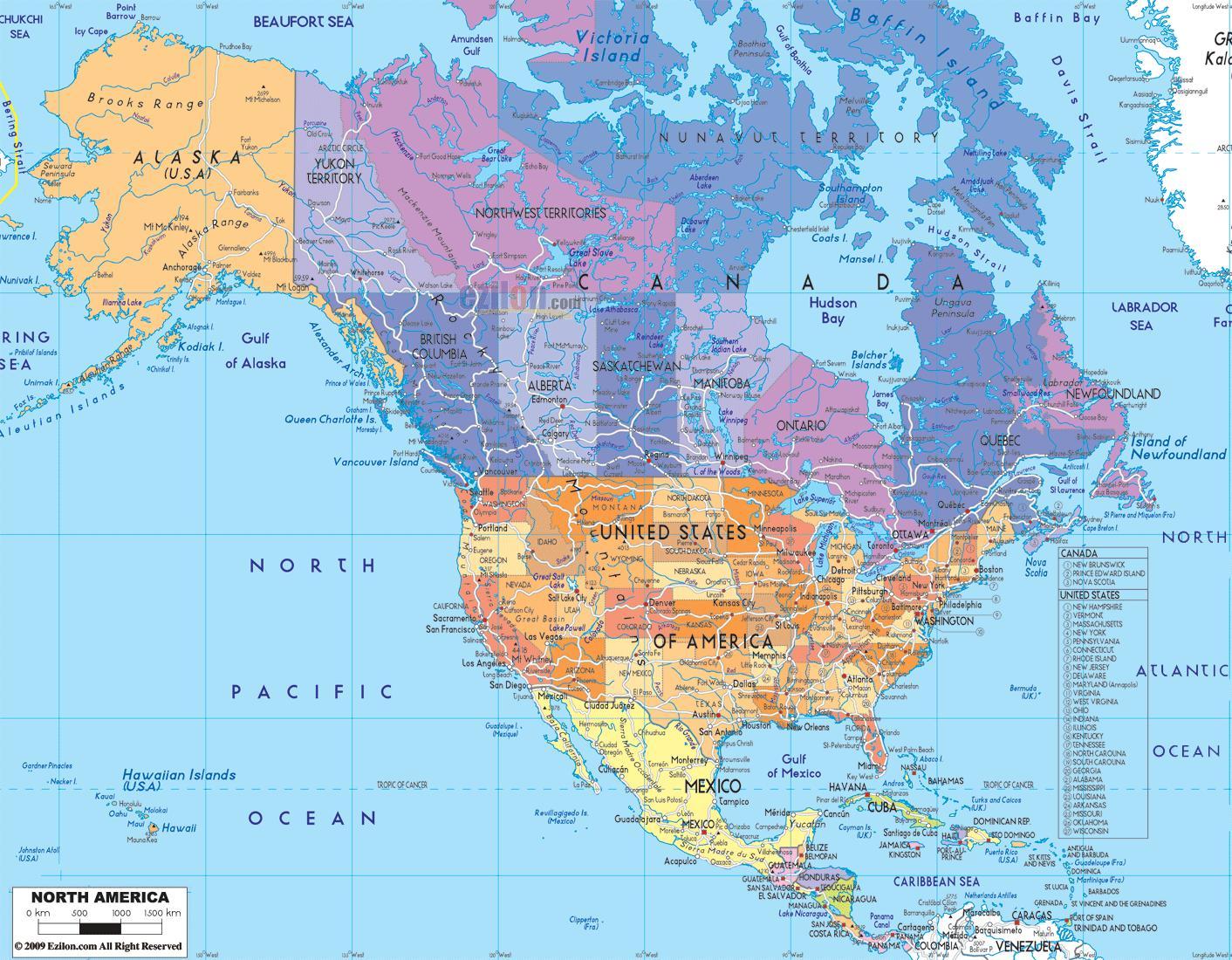 kart over nord amerika Vis kart over Canada   Klart kart over Canada (Nord Amerika   Amerika) kart over nord amerika