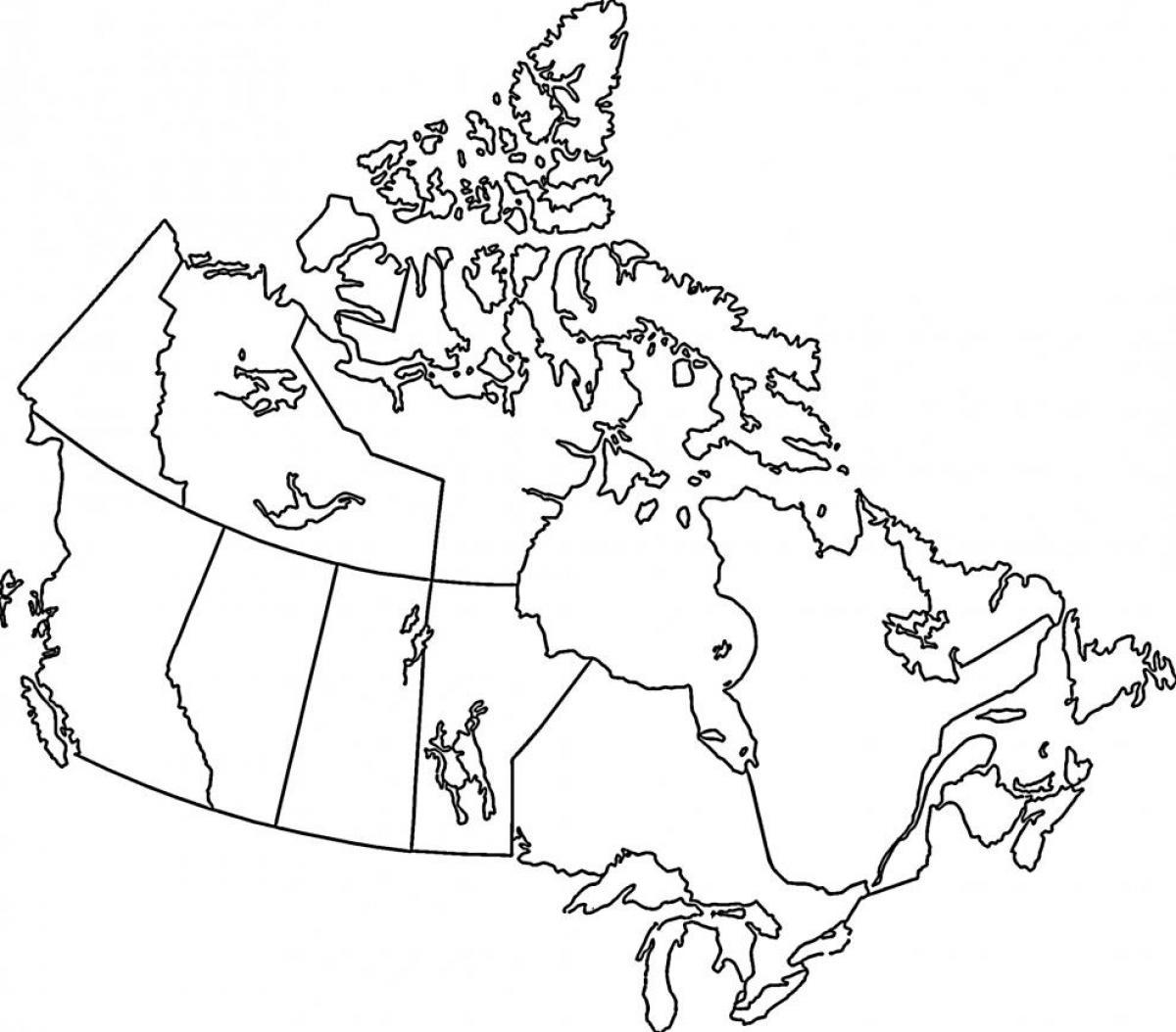 kart over side Kart over Canada farging page   Kart over Canada farge (Nord  kart over side