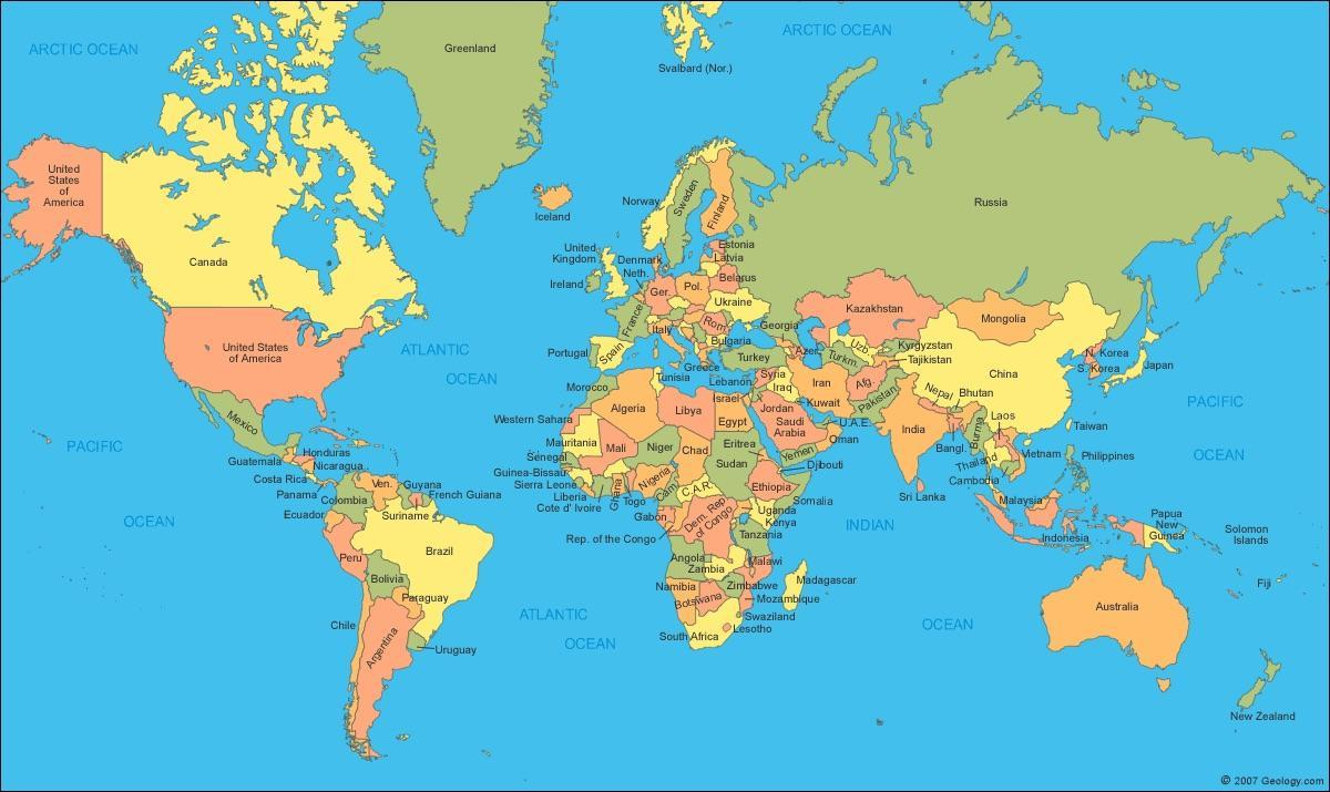 kart verden Verdenskart som viser Canada Canada kart i verden kart (Nord  kart verden