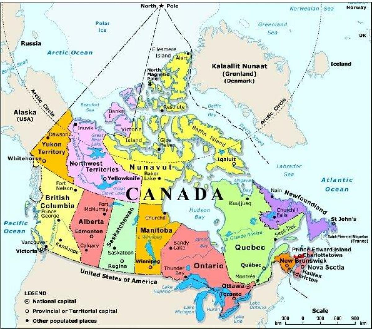 usa kart med byer Western Canada kart med byer   Kart av western Canada med byer  usa kart med byer